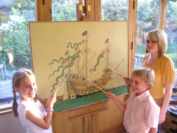 Kids with Mary Rose