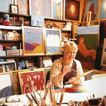Heather Bowring in her studio