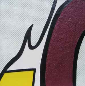 Heather Bowring tactile art interpretation of Whaam! by Roy Lichtenstein
